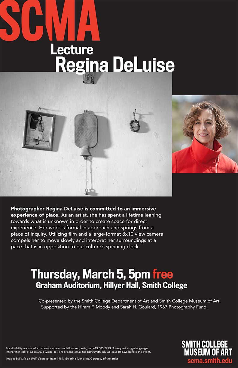 March 5 Regina DeLuise lecture poster 11x17