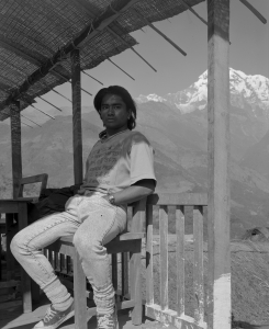 Young Man Outside Ghandruk, Nepal